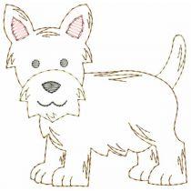 Top Dogs Vintage Stitch Set 6 Machine Embroidery Designs by JuJu
