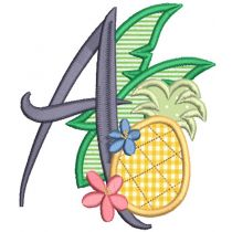 Tropical Applique Alphabet