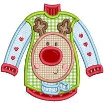 Ugly Christmas Sweaters Applique Machine Embroidery Designs by JuJu
