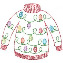 Ugly Christmas Sweaters Vintage Machine Embroidery Designs by JuJu