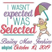 Umbrella Baby Adoption Announcement