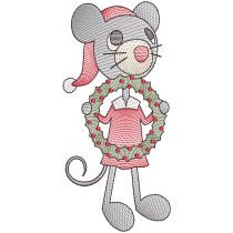Vintage Christmas Mice Machine Embroidery Designs By JuJu