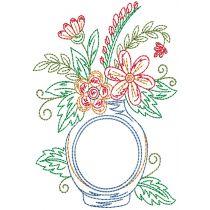 Vintage Floral Monogram Vases 1