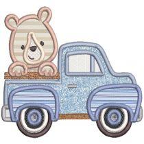 Vintage Truck Animals Applique