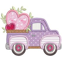 Vintage Valentine Trucks Applique