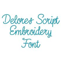 Delores Script Embroidery Font