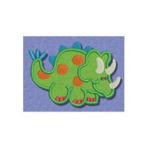 Dinosaurs ROAR applique 4x4 5x7
