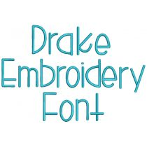 Drake Embroidery Font