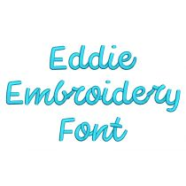 Eddie Embroidery Font