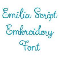 Emilia Script Embroidery Font