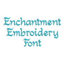 Enchantment Embroidery Font