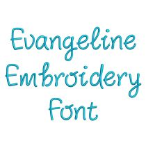 Evangeline Embroidery Font