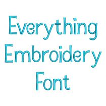 Everything Embroidery Font