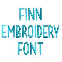 Finn Embroidery Font
