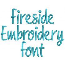 Fireside Font Digital Machine Embroidery Designs by JuJu