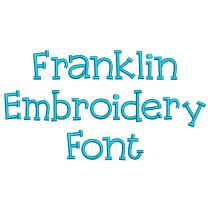 Franklin Embroidery Font