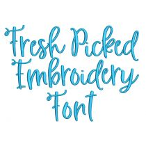 Fresh Picked Embroidery Font