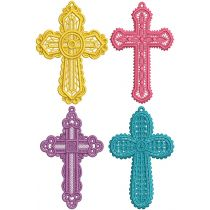 Free Standing Lace Crosses 1