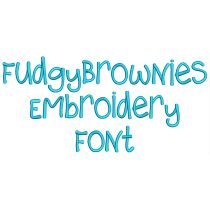 Fudgy Brownies Embroidery Font