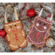 Designs by Juju In The Hoop Machine Embroidery Designs Gingerbread Christmas Treat Bags