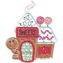 Gingerbread Village Applique Machine Embroidery Designs by JuJu