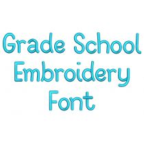 Grade School Embroidery Font