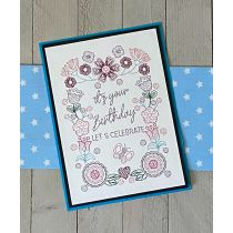 Greeting Cards Set 5 Digital Machine Embroidery Designs by JuJu