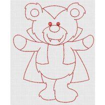Halloween Redwork Teddy Bears Designs by JuJu Machine Embroidery Designs