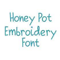 Honey Pot Embroidery Font