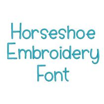 Horse Shoe Embroidery Font