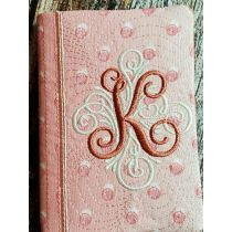 Monogrammed Mini Composition Notebook Cover Set