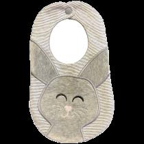 In The Hoop Cute Bunny Bib Machine Embroidery Designs by JuJu