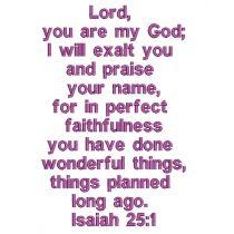 Isaiah 25:1