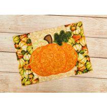 ITH Autumn Pumpkin Mug Rug Digital Embroidery Machine Designs by JuJu