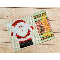 ITH For Santa Mug Rug Digital Embroidery Machine Designs by JuJu