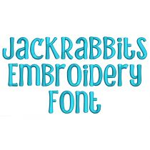 Jack Rabbits Embroidery Font