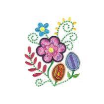 Jacobean Floral Applique