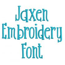 Jaxen Embroidery Font