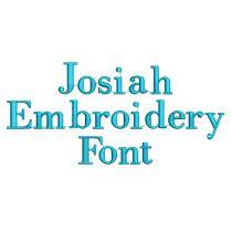 Josiah Embroidery Font