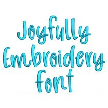 Joyfully Embroidery Font