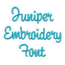 Juniper Font Machine Embroidery Designs by JuJu