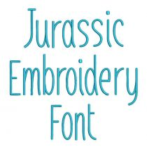 Jurassic Embroidery Font