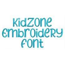 Kid Zone Embroidery Font