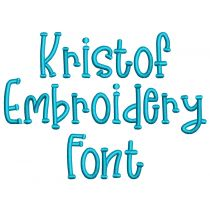 Kristof Embroidery Font