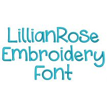 Lillian Rose Embroidery Font