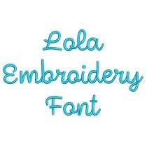 Lola Embroidery Font