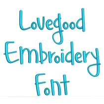 Love Good Embroidery Font