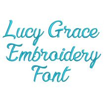 Lucy Grace Embroidery Font
