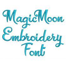Magic Moon Embroidery Font