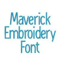 Maverick Embroidery Font